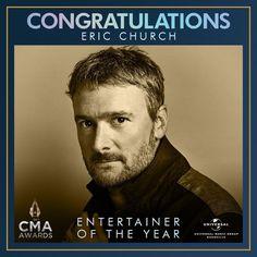 Nashville Music, Cma Awards, Eric Church, Congratulations, Entertaining, Fictional Characters, Fantasy Characters, Funny