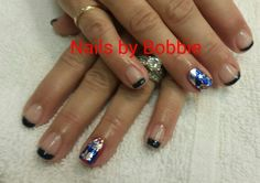 Shellac with foils.