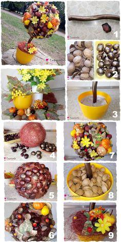 Autumn Crafts, Fall Crafts For Kids, Diy For Kids, Autumn Decorating, Fall Decor, Diy Christmas Gifts, Christmas Decorations, Diy Crafts For Home Decor, Diy Fall Wreath