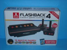 Preowned Atari Flashback 4 Console with 2 Wireless Controllers and 75 Built in Games