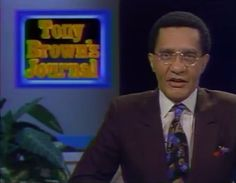 """William Anthony """"Tony"""" Brown (born April 11, 1933) is an American journalist, academian,comedian and businessman. He is best known as the commentator of the long running syndicated television show, Tony Brown's Journal  Brown is a member of Alpha Phi Alpha fraternity."""