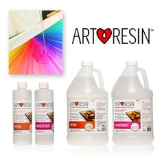 ArtResin is a 2-part epoxy resin, designed by artists for applications on paint surfaces, photos, wood & more!