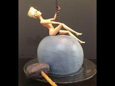 Myley Cyrus Wrecking Ball Cake- Cake Decorating- Barbie Cake