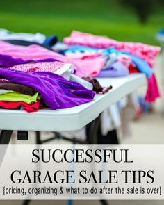 We all know that having garage sales can be an easy money maker, but with these garage sale tips you are sure to set yourself up for the best garage sale ever.