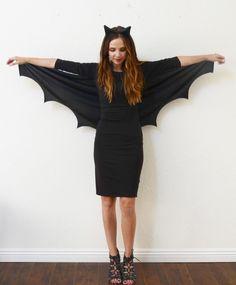 sich als Bat Woman oder Fledermaus maskieren