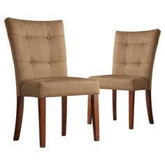 Have to have it. Tufted Parsons Dining Chair - Set of 2 - $236.98 @hayneedle