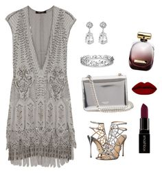 """""""Friday night!"""" by jasive-asseff-jamous on Polyvore featuring Roberto Cavalli, Sergio Rossi, Rochas, Kenneth Jay Lane, Effy Jewelry, Smashbox and Nina Ricci"""