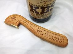 Handmade Wooden Beer Bottle Opener Wood Bottle by anthonyswoodshop