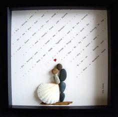 BODA personalizada regalo boda regalo guijarro arte por MedhaRode