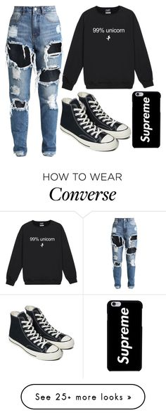 """99% Unicorn"" by pxrfect-lxve on Polyvore featuring Converse"