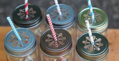 Find of the day: mason jar lids with a cute design. Perfect for parties. And they are on clearance for $4.99/6!