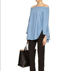 Tibi Neo Off-the-shoulder Top New without tags. Size:6. True to size. 100%cotton. The price is firm :) Tibi Tops Tunics