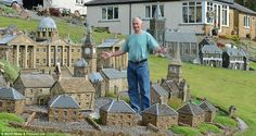 Creator: Retired builder Lowson Robinson has downsized and has focused his attention on miniature buildings in his own garden...
