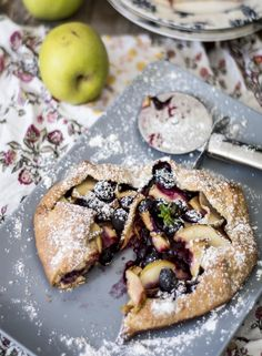 blueberry and apple galette