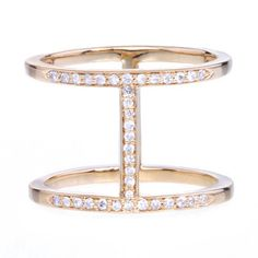 Gold Pavé Diamond Elijo Ring