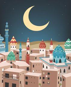 Ramadan Cards, Ramadan Wishes, Islam Moon, Poster Ramadhan, Wallpaper Ramadhan, Ramadan Poster, Islamic Wallpaper Hd, Buch Design, Islamic Cartoon
