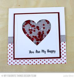 Love You More, Mini Hearts Background, Blueprints 1 Die-namics, Stitched Heart STAX Die-namics, Wonky Stitched Square STAX Die-namics - Julie Dinn   #mftstamps