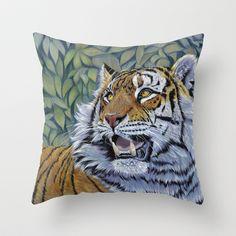 Tiger 807 Throw Pillow by S-Schukina - $20.00