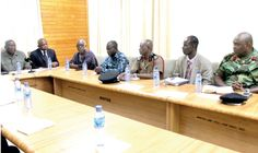 Members of the committee seated at the ceremony in Accra.