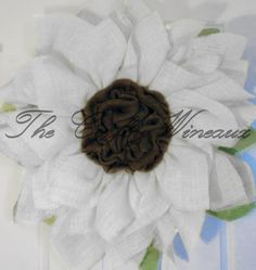 Rich Burlap Soft White/Cream Flower Sunflower Burlap Wreath, Spring Wreath, Summer Wreath, Housewarming Gift, Customizable Wreath - pinned by pin4etsy.com