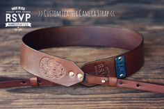 Custom Leather Camera Strap Handmade by RSVPhandcrafted on Etsy, $39.99