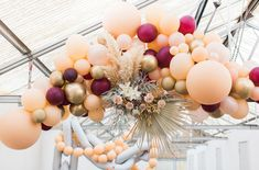 Tea For Two: Garden Party Wedding Inspiration Like You've Never Seen! Art Party Decorations, Wedding Balloon Decorations, Wedding Balloons, Pink Green Wedding, Balloon Installation, Colourful Balloons, Colorful, Garden Party Wedding, Wedding Chairs