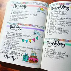 Bullet Journal Project Planning, Bullet Journal 2019, Bullet Journal Junkies, Bullet Journal Ideas Pages, Bullet Journal Layout, Bullet Journal Inspiration, Bullet Journals, Round Robin, Creative Diary