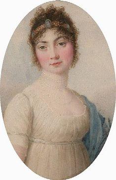 Hair band. 1800ca. Therese von Thurn und Taxis by Carlo Restallino