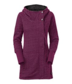 Perfectly paired with yoga pants, this fleece-lined jacket has a tunic-length hem for a little extra coverage when you're dashing to and from the studio. #giftsforher