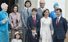Countess  Alexandra's mother, Countess Alexandra, Prince Nikolai, Prince Henrik, Queen Margrethe of Denmark,  Prince Felix, Princess Marie of Denmark, Prince Joachim of Denmark, Princess Athena, Prince Henrik at Prince Felix's confirmation. April 1 2017