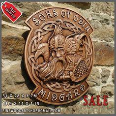 Viking Hand Made Wood Carving #Odin #Valhalla #Pagan