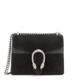 Dionysus Mini black suede shoulder bag