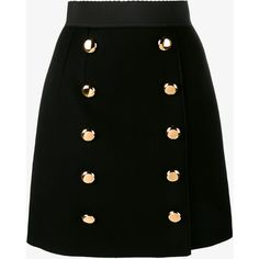 Dolce & Gabbana Dolce & Gabbana Buttoned A-Line Skirt (99.160 RUB) ❤ liked on Polyvore featuring skirts, mini skirts, bottoms, saias, faldas, high waisted mini skirt, short skirt, short a line skirt, elastic waist a line skirt and a line button skirt