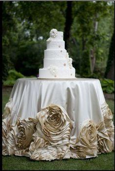 gorgeous cake table