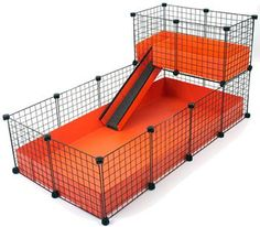 Large (2x4 Grids) / Narrow Loft - Deluxe Cages - C Cages for Guinea Pigs...but in PURPLE