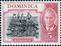 Dominica 1951 New Constitution Fine Mint SG 137 Scott 139 Other Dominica Stamps HERE