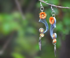 QUILLED EARRINGS-Unknown Quiller