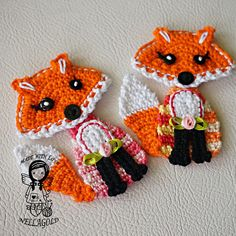 Crochet PATTERN Applique Fox Patch Fox by NellagoldsCrocheting