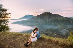 Mount Batur, Kintamani in Bali // Let's Go For A Ride: Ariex and Ani's Engagement Shoot