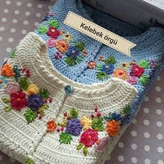 Image may contain: 1 person - SalvabraniSummer is in full swing and I recently searched my reserve to see which thread I would like to use for a new, easy-to-wear crochet top. Cardigan Au Crochet, Crochet Baby Sweaters, Gilet Crochet, Crochet Coat, Crochet Baby Clothes, Crochet Jacket, Crochet Cardigan, Beau Crochet, Baby Girl Crochet