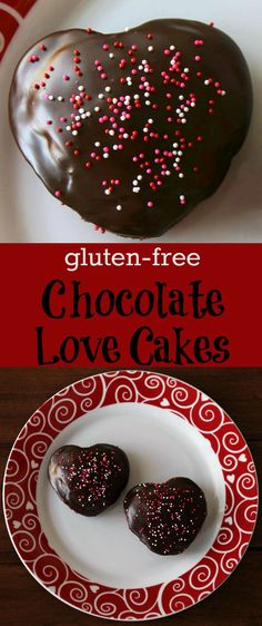 Gluten-free Chocolate Love Cakes for Valentine's Day - Easy and delicious treat to make for your sweeties!
