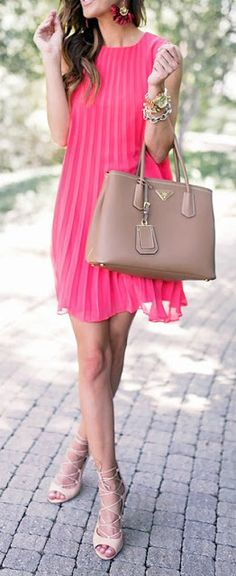 Pink + nude.