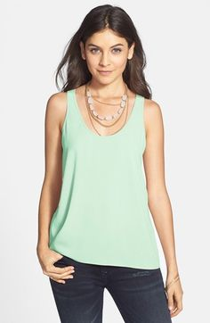 love this mint green tank