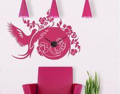 Wall Decal Clock no.15 Magic Dove