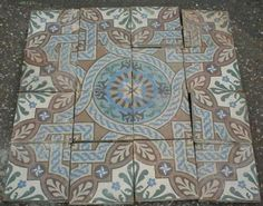 15 x 15 cm, Germany. Mesa Bonita has been collecting hydraulic tiles for the past 10 years. All the tiles have been saved from the city dumpsters and desperately need a second life. They can be turned into a pretty table, console, nightstand, frame, trivet, coaster… Contact me for information, I have a wide selection of styles and colors and a whole bunch of ideas: Benedicte Bodard  Mesa Bonita/Barcelona Tiles benedictebodard@gmail.com www.mesabonita.es https://www.pinterest.com/bbodard/