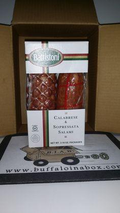 Artisan Soppressata and Calabreze Salami Gift Box Set