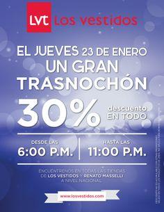 ALMACÉN LOS VESTIDOS !!! GRAN TRASNOCHÓN 30% DE DESCUENTO EN TODO!! ALAMEDAS CENTRO COMERCIAL...