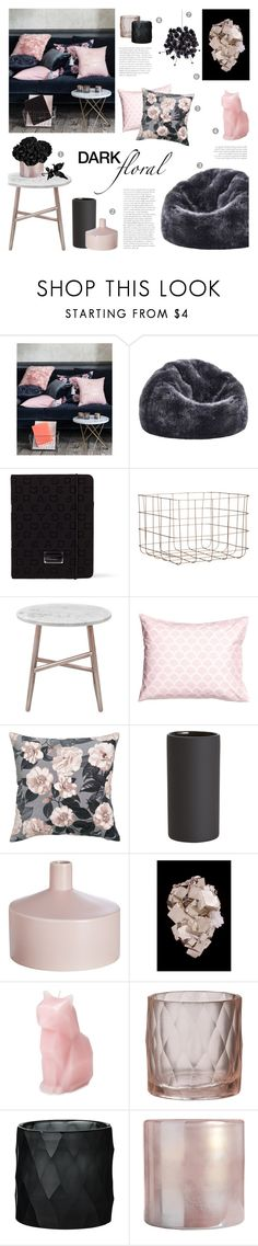 """""""Dark Floral"""" by c-silla on Polyvore featuring interior, interiors, interior design, home, home decor, interior decorating, H&M, Dot & Bo, Marc by Marc Jacobs and CB2"""