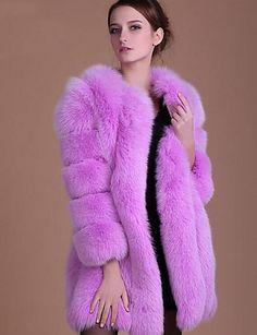 Women's Plus Size Simple Winter Fall Fur Coat,Solid Round Neck Long Sleeve Long Faux Fur Winter Fur Coats, Winter Coats Women, Coats For Women, Classy Outfits For Women, Long Fur Coat, Fur Clothing, Fur Fashion, Fashion Outfits, Womens Fashion
