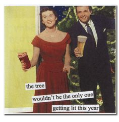 Napkins - Anne Taintor The Tree HOLIDAY Funny Cocktail Beverage
